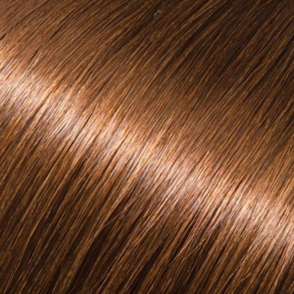 Donna Bella Milan 16 inche Full Head Human Clip-In #6 (Dark Chestnut Brown)