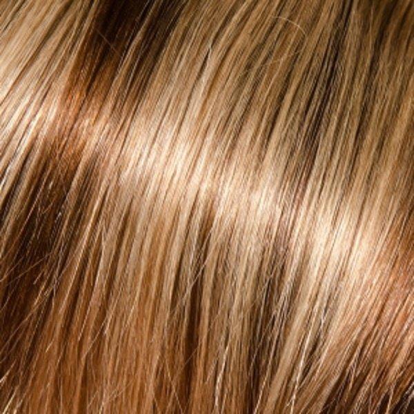 Donna Bella Milan 16 inche Full Head Human Clip-In #6/24 (Dark Chestnut/Gold Blonde)