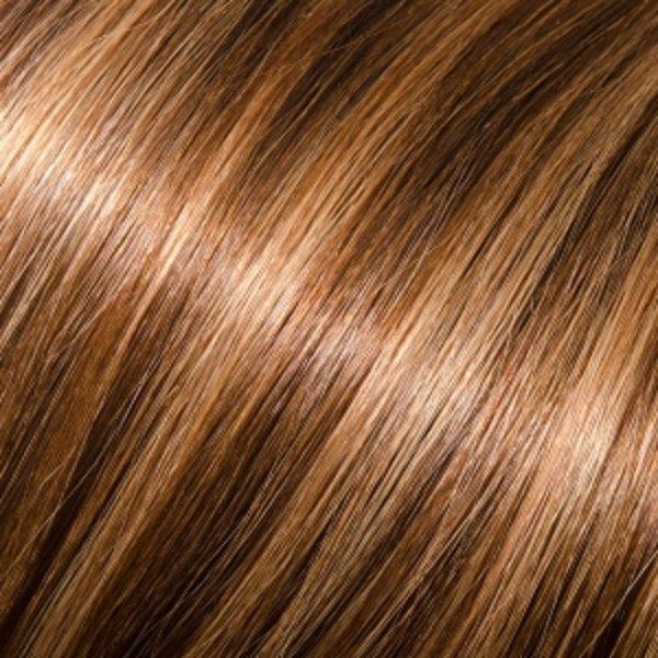 Donna Bella Milan 22 inche Pure Human Remy Hair I-Link Pro Straight #6/10 (Dark Chestnut/Medium Ash)