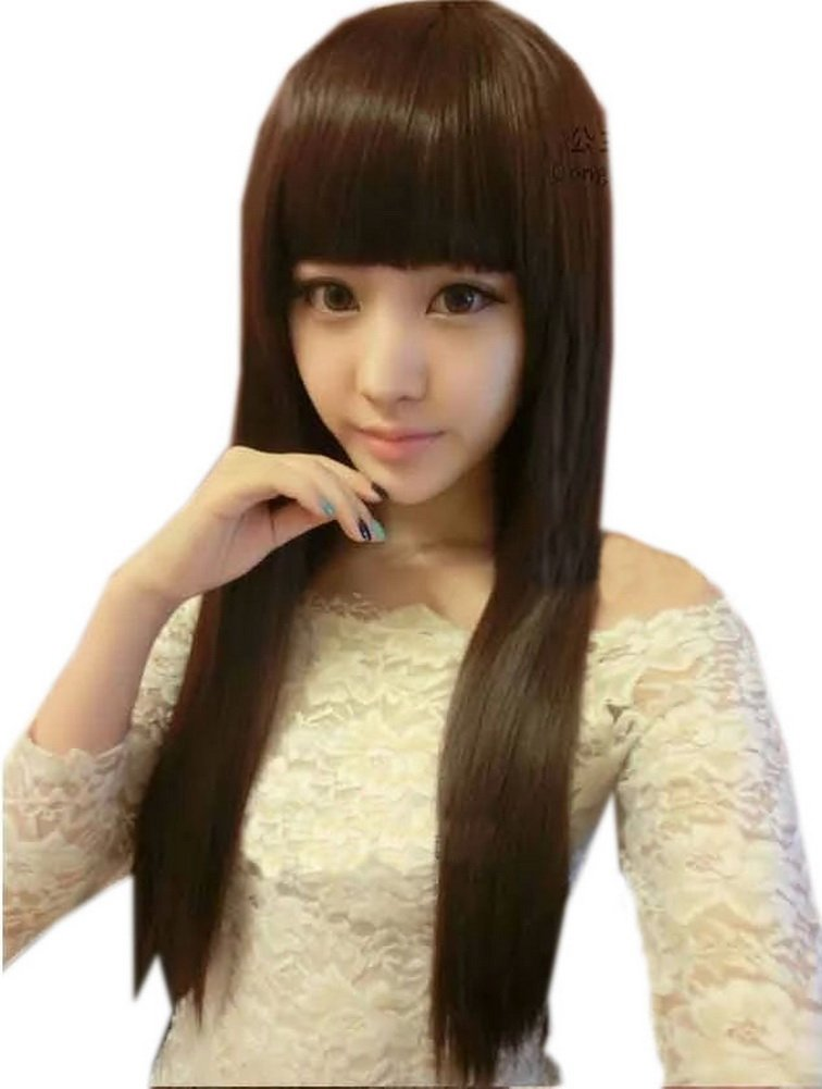 Gorgeous Natural Long Straight Brown Wig Lace Wig Sale Off