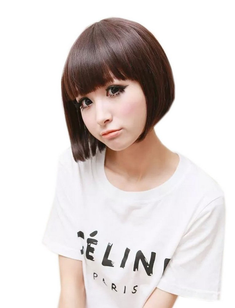 Cute Girly BOBO Hairstyle Short Wig for Women