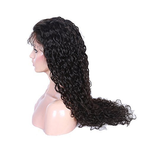 Cute Curly 100% Human Virgin Hair 2 Natural Looking Loose Lace Front Wig With Baby Hair 10""