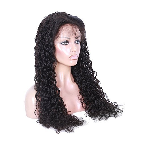 Cute Curly 100% Human Virgin Hair 2 Natural Looking Loose Lace Front Wig With Baby Hair 12""