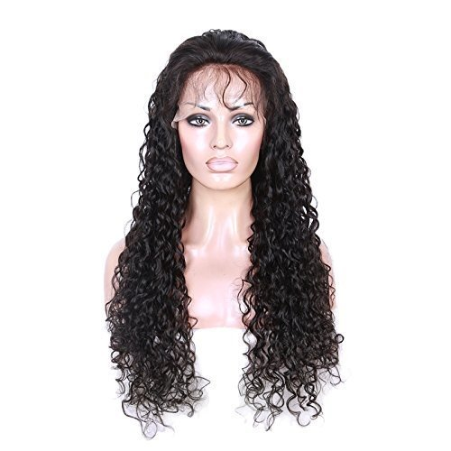 Cute Curly 100% Human Virgin Hair 2 Natural Looking Loose Lace Front Wig With Baby Hair 18""
