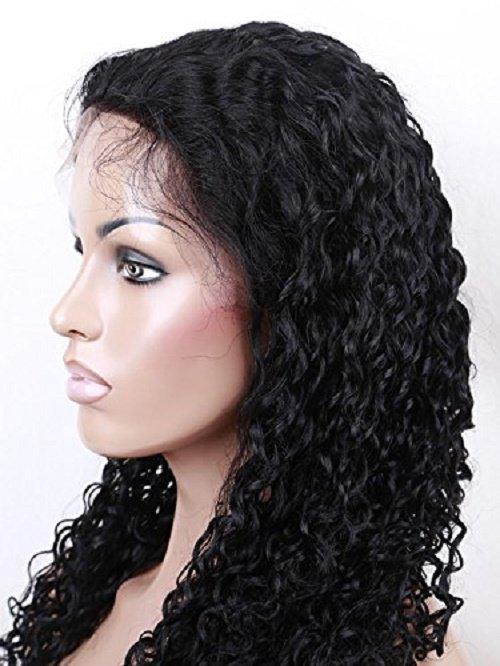 Curly 100% Virgin Brazilian Human Hair Wigs Lace Front Wig Hair 20 inch