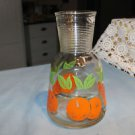 Vintage Hazel Atlas juice decanter 1 quart. Oranges.