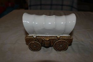 Vintage Covered Wagon Bank. Made in Japan (sticker lost)