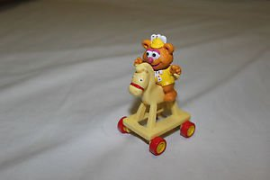 McDonald's happy meal toy 1986 Fozzie Bear and riding horse.