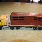 Vintage Tonka 1980 cattle truck and trailer. Complete with doors.