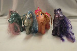 Lot Cabbage Patch 3 Magic Meadow ponies and 1 Crimp n Curl unicorn.