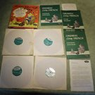 Vintage Children's Living French language course records, books