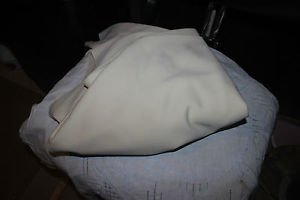"""Vintage Cream Fortrel fabric material. Remnant 48"""" x 53""""."""