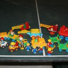 Lot 15 Vintage Playskool little people & vehicles. Space. knight, girls, boys.