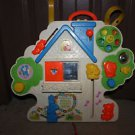 Vintage Fisher Price Musical Activity Center #1100. Crib toy w straps & tie cord