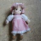 2008 Precious Moments styrofoam head doll. Pink dress. Machine washable