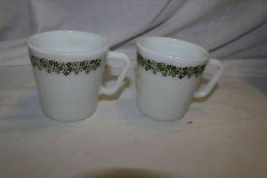 3 vintage Pyrex #1410 Spring Blossom Crazy Daisy coffee mugs