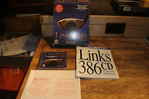 Links 386 PC Computer Golf game CD 1993 MS-DOS. Access Software Inc.