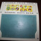 Vintage Fisher Price School Days Desk 176 complete set of word & number cards