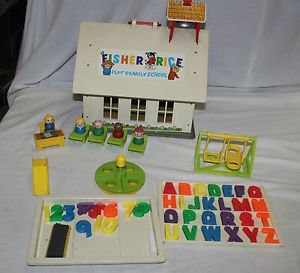 Vintage Fisher Price Little People School 923. 99.9% complete. Eraser.