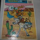 Vintage Golden cardboard Disney Donald Duck cowboy frame tray puzzle