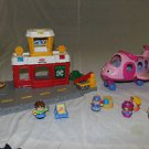 Fisher Price Little People Airport, Plane, Firehouse, 8 people, cars. Large Lot.