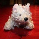 Ganz Webkinz White Terrier. Ganz tag, no code. W embroidered on foot.