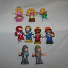 10 Fisher Price 9 Bendable Poseable figure. Princess, knights, car drivers, etc