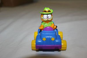 McDonald's happy meal toy 1988 Garfield and blue car.