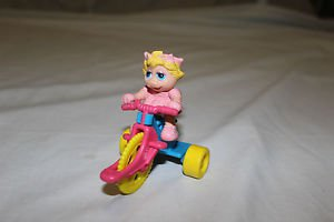 McDonald's happy meal toy 1990 Miss Piggy and blue tricycle.