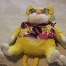 Vintage Fisher Price Puffalump yellow Wild Things yellow monkey w. rhino glasses