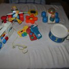 Lot Vintage Fisher Price baby & toddler toys. Boombox radio, pull airplane, star