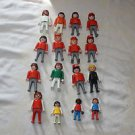 Vintage Playmobil lot 16 people, klicky, 8 Esso gas station, 3 children