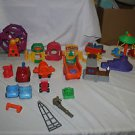 Huge lot Fisher Price Current Little People vehicles, carousel, ferris wheel etc