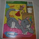 Vintage Golden cardboard  MGM 1981 Tom and Jerry frame tray puzzle.