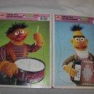 Vintage Golden cardboard Muppet Bert & Ernie frame-tray puzzles. 12 piece. 4524.