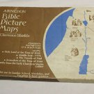 Vintage  Bible Picture maps with box. 1975 Clarence Shields. 4 maps. Made in USA