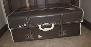 Vintage Paxall Expanding suitcase luggage for wedding, prop or display. HTF.
