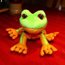 Ganz Webkinz Lil'Kinz Tree Frog HS109. Ganz tag, no code. W embroidered on foot.