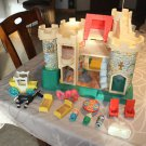 Vintage Fisher Price Castle 993 with accessories & Little People carry case