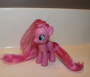My Little Pony G4. 3.5 inches tall. Pinkie Pie. 2011. Tinsel in hair - Canterlot