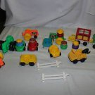 Fisher Price Chunky Little people LOT. Vehicles, people, fence, wheel chair
