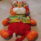 Vintage Fisher Price Puffalump fuschia Wild Things tiger w. glasses