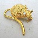 Goldtone Mouse Mice Vintage Figural Pin Brooch