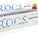 R.O.C.S Toothpaste Coffee & Tobacco 74gr Removes Stains from Smoke Tea Red Wine