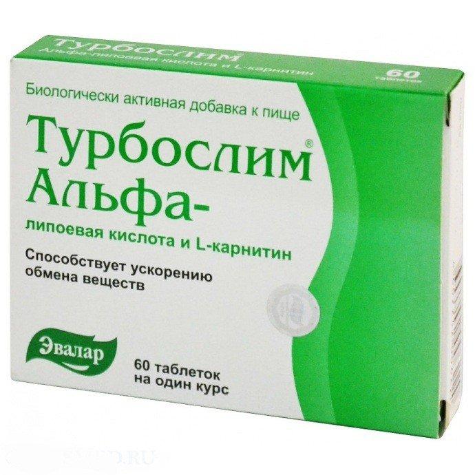 Evalar Turboslim 60 Tabs Alpha Lipoic Acid with L Carnitine for Weight Loss