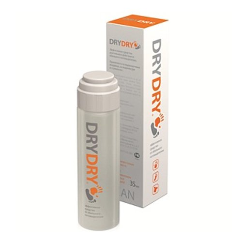DRY DRY 35ml Lotion Antiperspirant for ARMPITS PALMS and FEET. DRYDRY. SWEDEN.