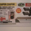 Harbor Freight Coupon For 8 Channel Surveillance DVR With 4 Infrared Cameras SAVE $140.00