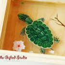 Tortoise resin painting