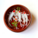White Tancho Koi resin painting