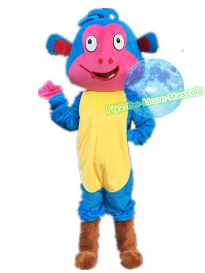 Dora the explorer Boots mascot costume Blue Monkey Mascot costume for  Halloween and party events